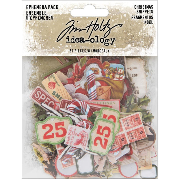 Tim Holtz - Idea-ology - Snippets Tiny Die-Cuts/Christmas - NEW!