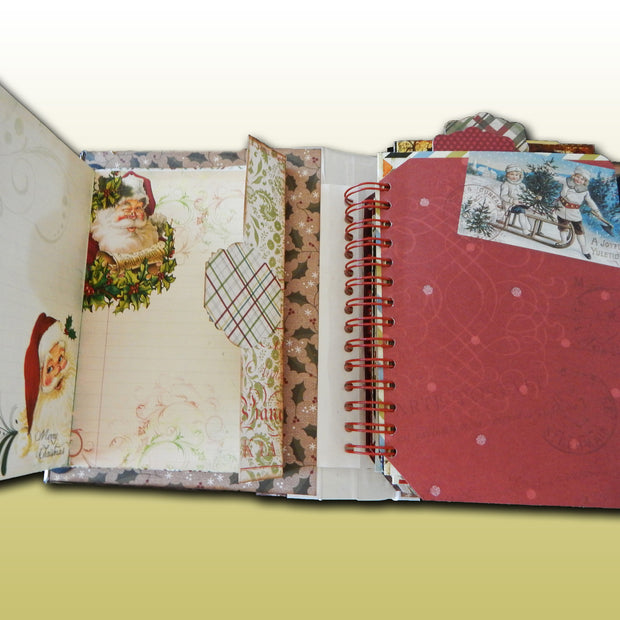 Hand-crafted Spiral Bound Christmas Album