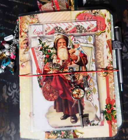 Traveler's Journal - Vintage Christmas Charm - Santa