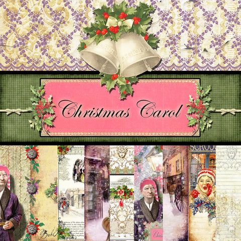 Christmas Carol Digital Collection - Paper Pack 1