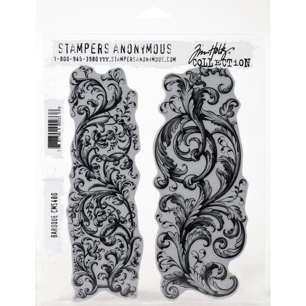 Tim Holtz - Stampers Anonymous - Baroque- STAMP SET