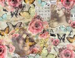 Collaged Rose - Digital Journal Kit - Bundle Pack