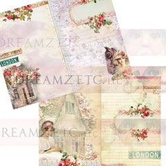 Cottage Rose Digital Paper Collection - 10 Papers/Designs