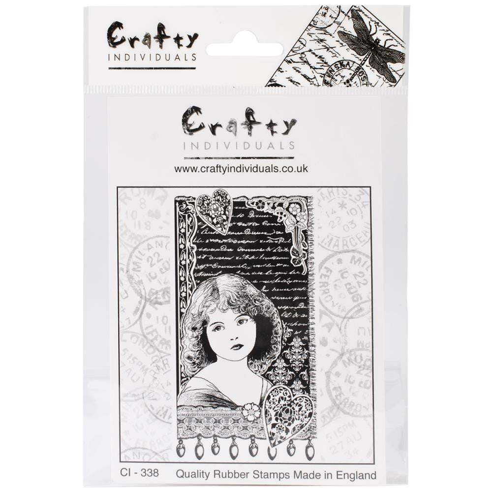 Crafty Individuals Unmounted Rubber Stamp - Girl Dreaming