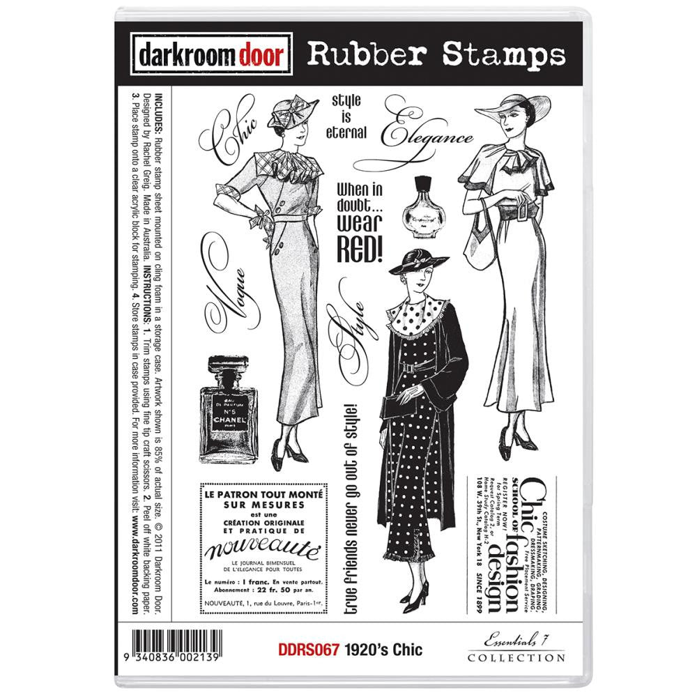 Darkroom Door Cling Stamps - NEW! - 1920's Chic