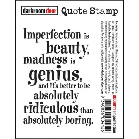 Darkroom Door Cling Stamps - NEW! - Imperfection