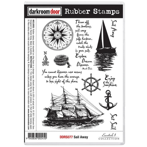 Darkroom Door Cling Stamps - NEW! - Sail Away