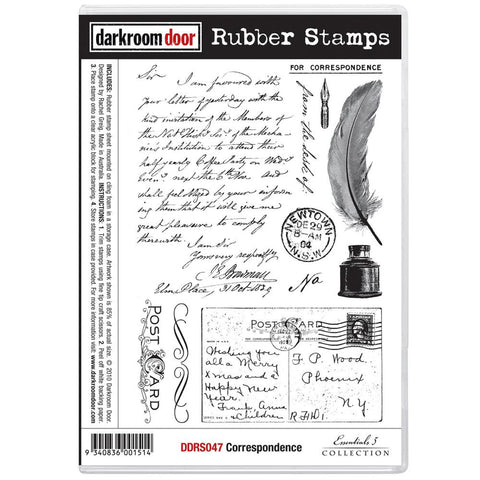 Darkroom Door Cling Stamps - NEW! - Correspondence