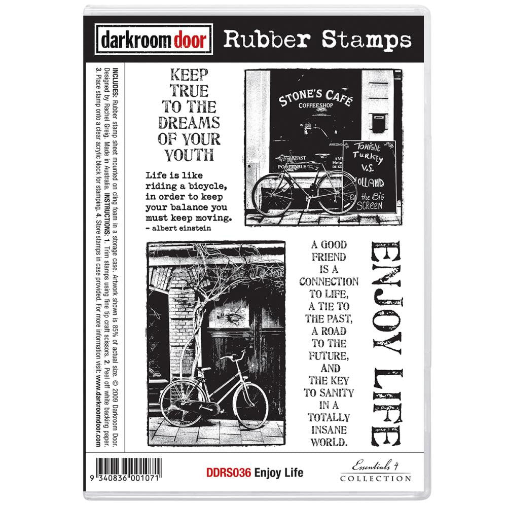 Darkroom Door Cling Stamps - NEW! - Enjoy Life