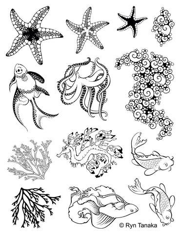 Designs by Ryn Stamp Set -Sea Creatures 2