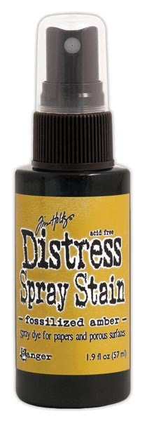 Distress Ink Spray - Fossilized Amber