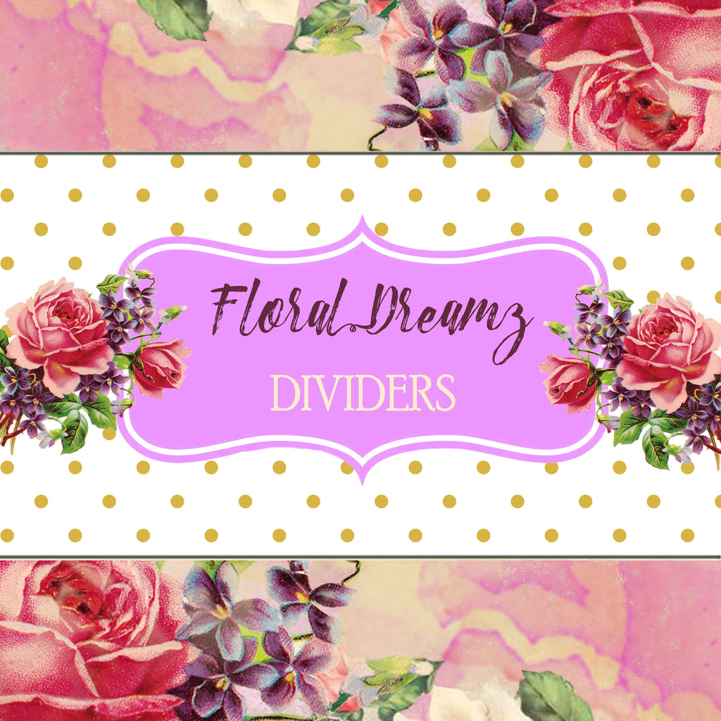 photo about Printable Dividers named Floral Dreamz Planner/Magazine - Tabbed Dividers - Printable