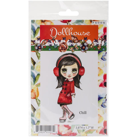 Dollhouse Cling Stamp - Chill