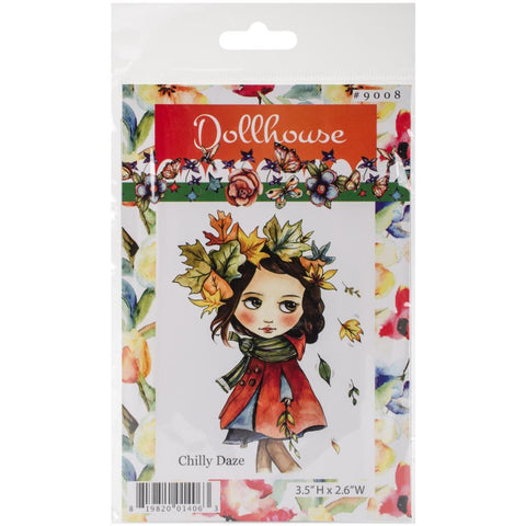 Dollhouse Cling Stamp - Chilly Daze