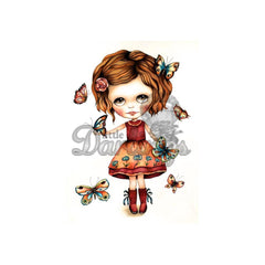 Dollhouse Cling Stamp - Fly By