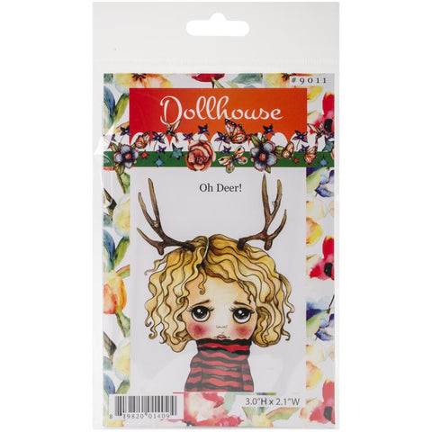 Dollhouse Cling Stamp - Oh Deer