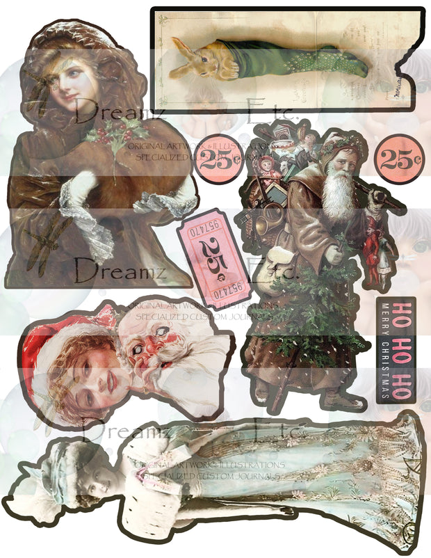 Eclectic Christmas - Digital Journal Kit - Bundle Pack