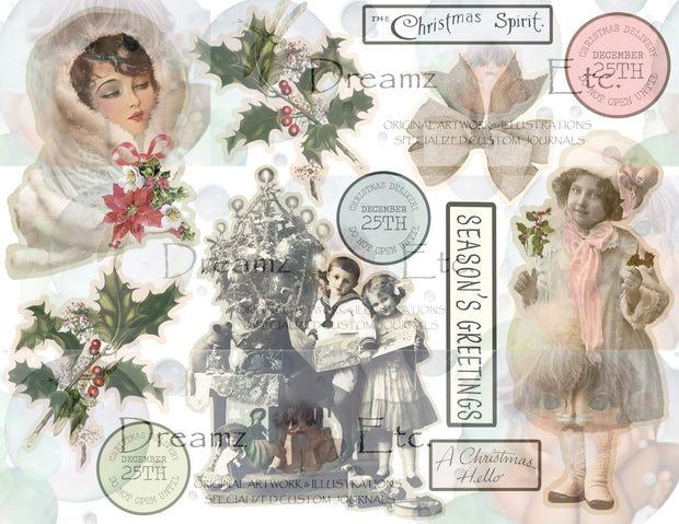 Eclectic Christmas - Digital Journal Kit - EZ CUTZ - LARGE