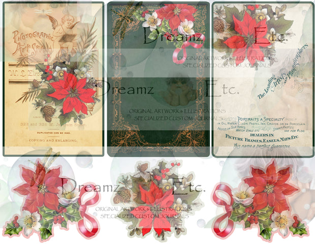 Eclectic Christmas - Digital Journal Kit - CABINET CARDS & FRAMES