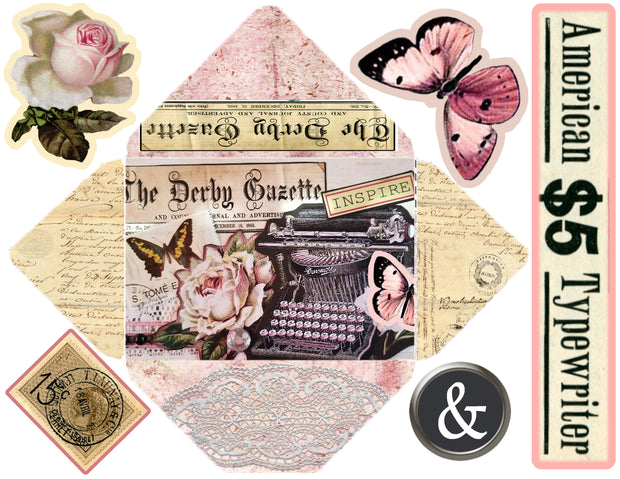 Embellished Collage - Digital Journal Kit - Bundle Pack