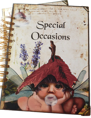 Fairyland Journal/Special Occasions Spiral Bound Album - Handmade Cards Included!