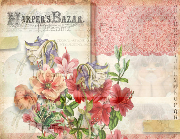Fashion Bazaar - Lined Papers - Digital