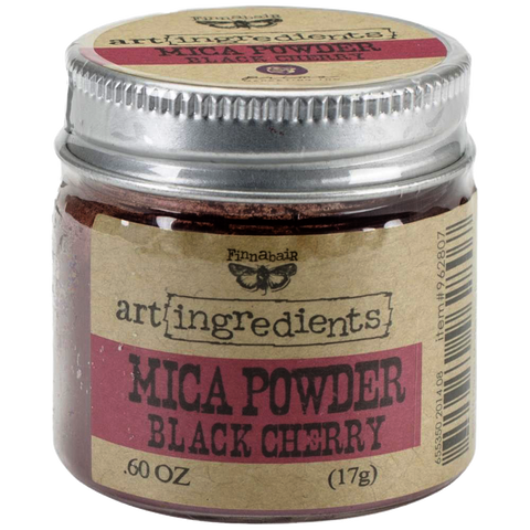 Finnabair Art Ingredients Mica Powder - Black Cherry