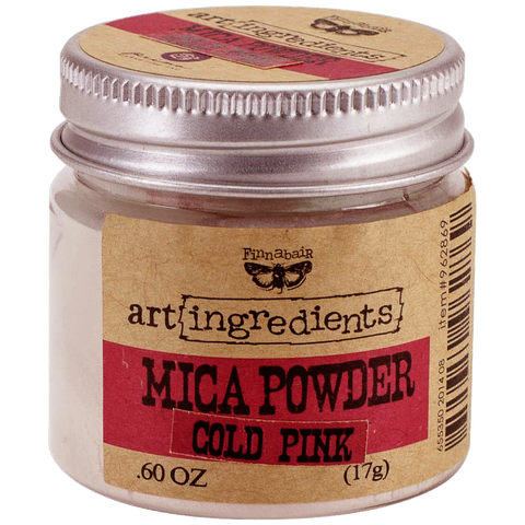 Finnabair Art Ingredients Mica Powder - Cold Pink