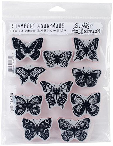 Tim Holtz Stamp Set - Flutter