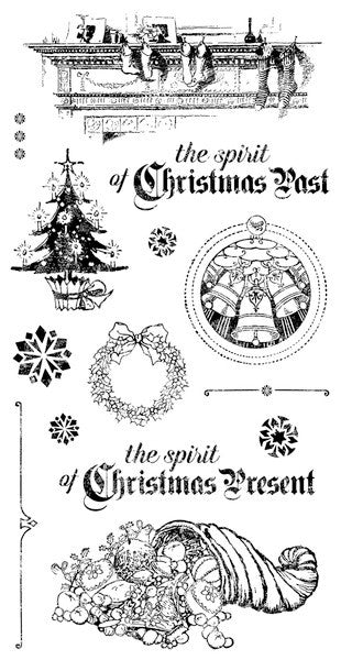 Graphic 45 Christmas Carol Cling Stamp Set #2