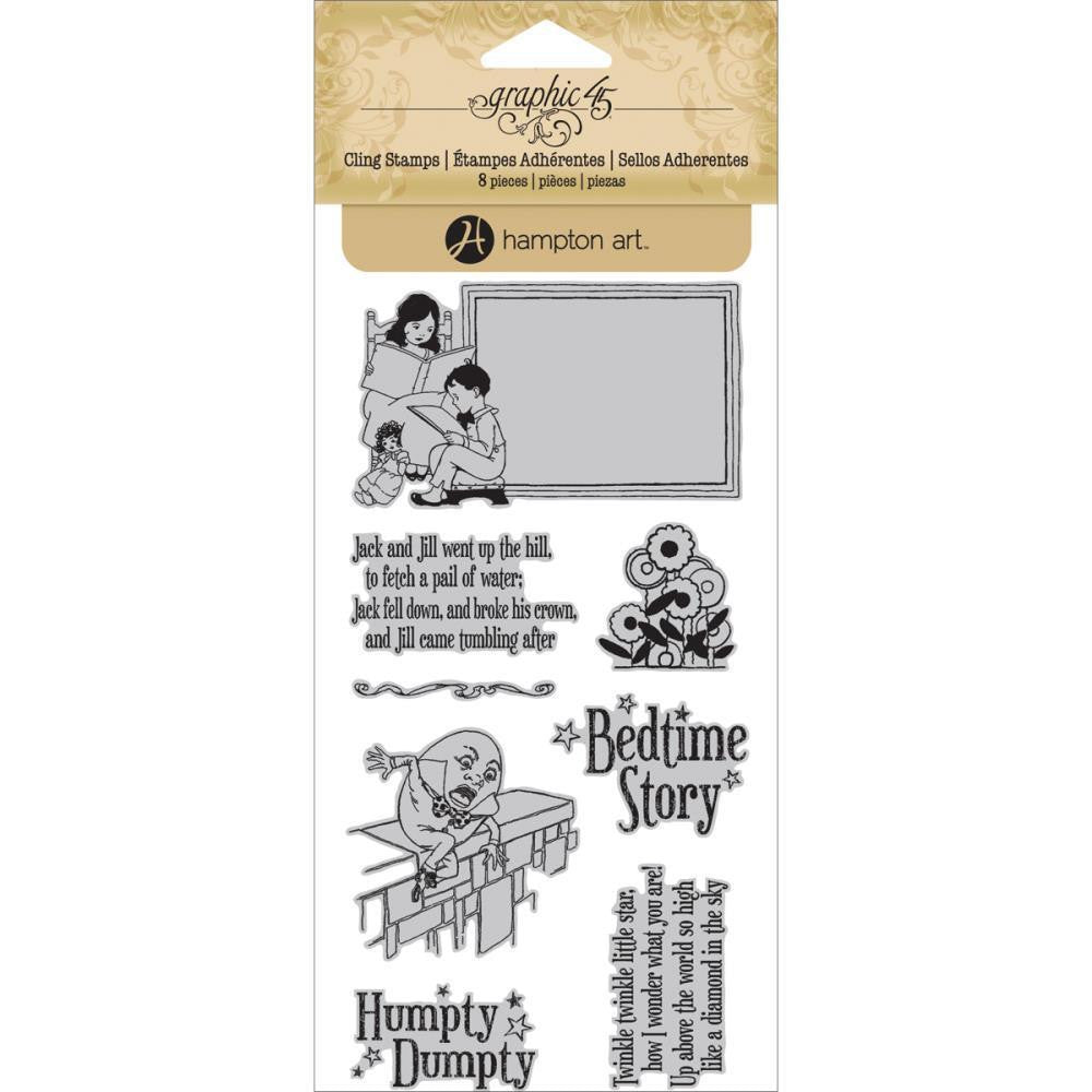 Graphic 45 Mother Goose Cling Stamp Set #2