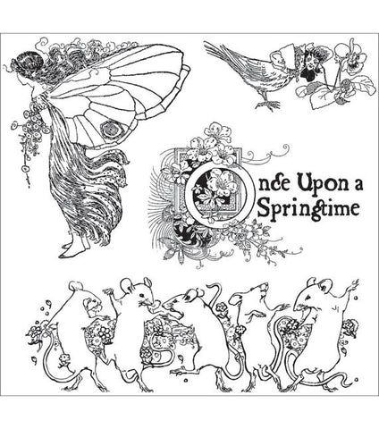 Graphic 45 Once Upon A Springtime Cling Stamp Set #1