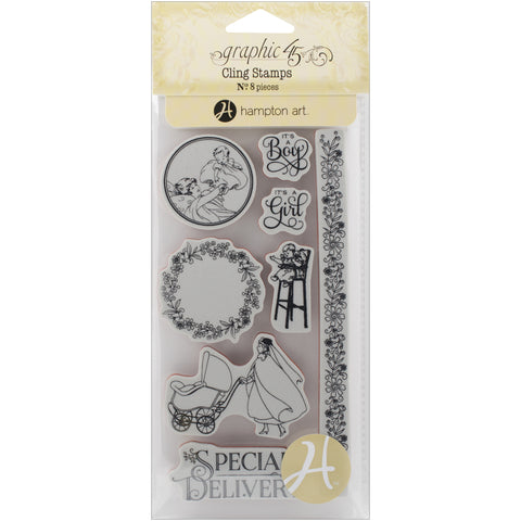 Graphic 45 Precious Memories Cling Stamp Set #3