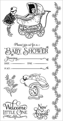 Graphic 45 Precious Memories Cling Stamp Set #2