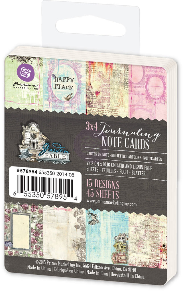 Prima Garden Fable Journaling Cards - 3x4