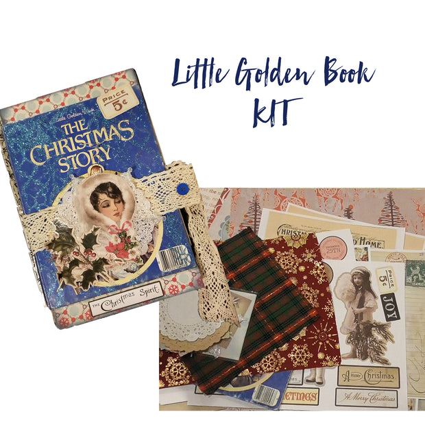 Journal Kit - Christmas Theme - Little Golden Book - Journal Etc.
