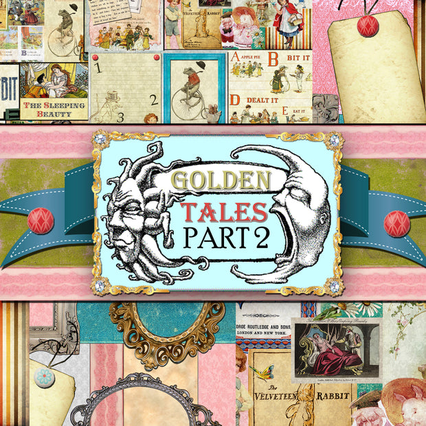 Golden Tales 2 - Digital Journal Kit/Paper Pack