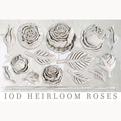 Décor Mould by IOD - Iron Orchid Designs - Heirloom Roses
