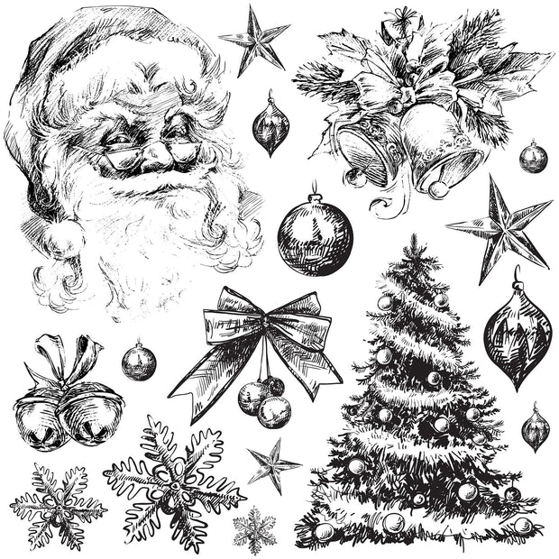 Iron Orchid Holly Jolly Decor Stamp Set - 12x12 - NEW! - LIMITED RELEASE!