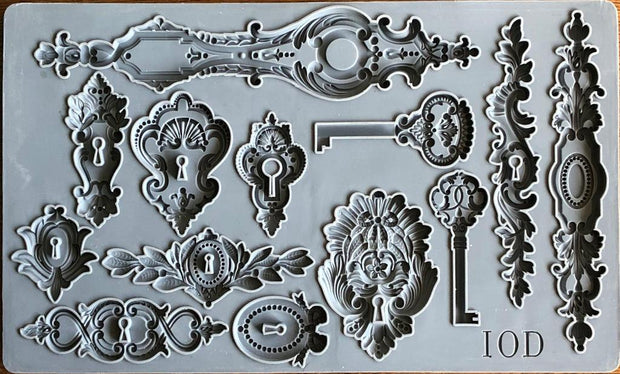 Lock and Key Decor Mould by IOD - Iron Orchid Designs