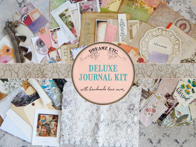 Embroidered Lace Soft Journal Cover - Deluxe Kit - Discounted Shipping!