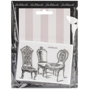 "Lablanche Silicone Stamp - Chairs Stamp - 3.75""X2.75"""