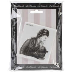 "Lablanche Silicone Stamp - Thoughtful Lady Stamp - 3""X3"""