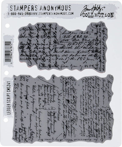 TIM HOLTZ - STAMPER'S ANONYMOUS - LEDGER SCRIPT STAMP