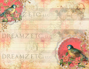 Birds & Butterflies Lined Journal Paper Pack - Digital - 10 Designs