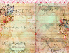Vintage Lined Journal Paper Pack - Digital - 10 Designs