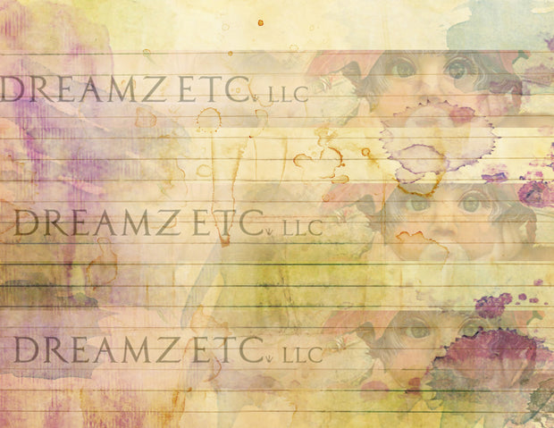 Watercolor Lined Journal Paper Pack - Digital - 10 Designs