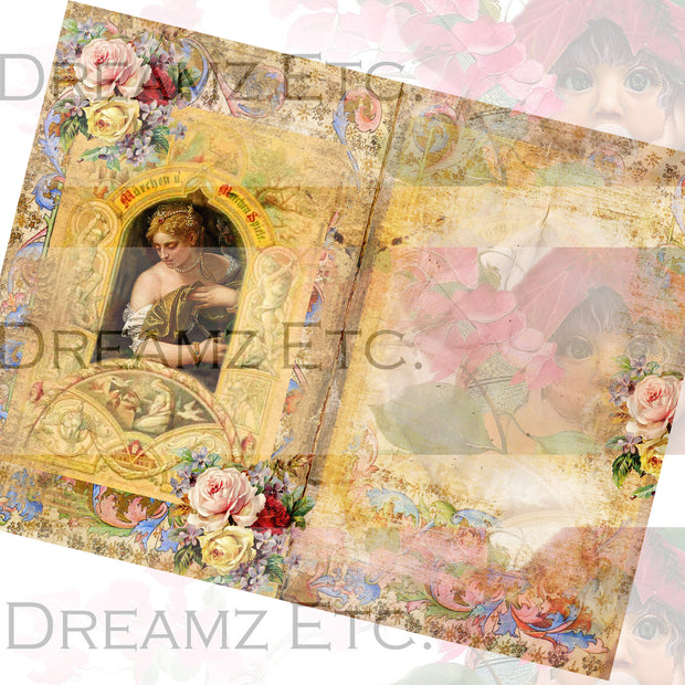 Medieval Romance Digital Collection - Entire Collection - 10 Papers/Designs, 5 Pocket Envelopes,Tags, and Ephemera Sheet