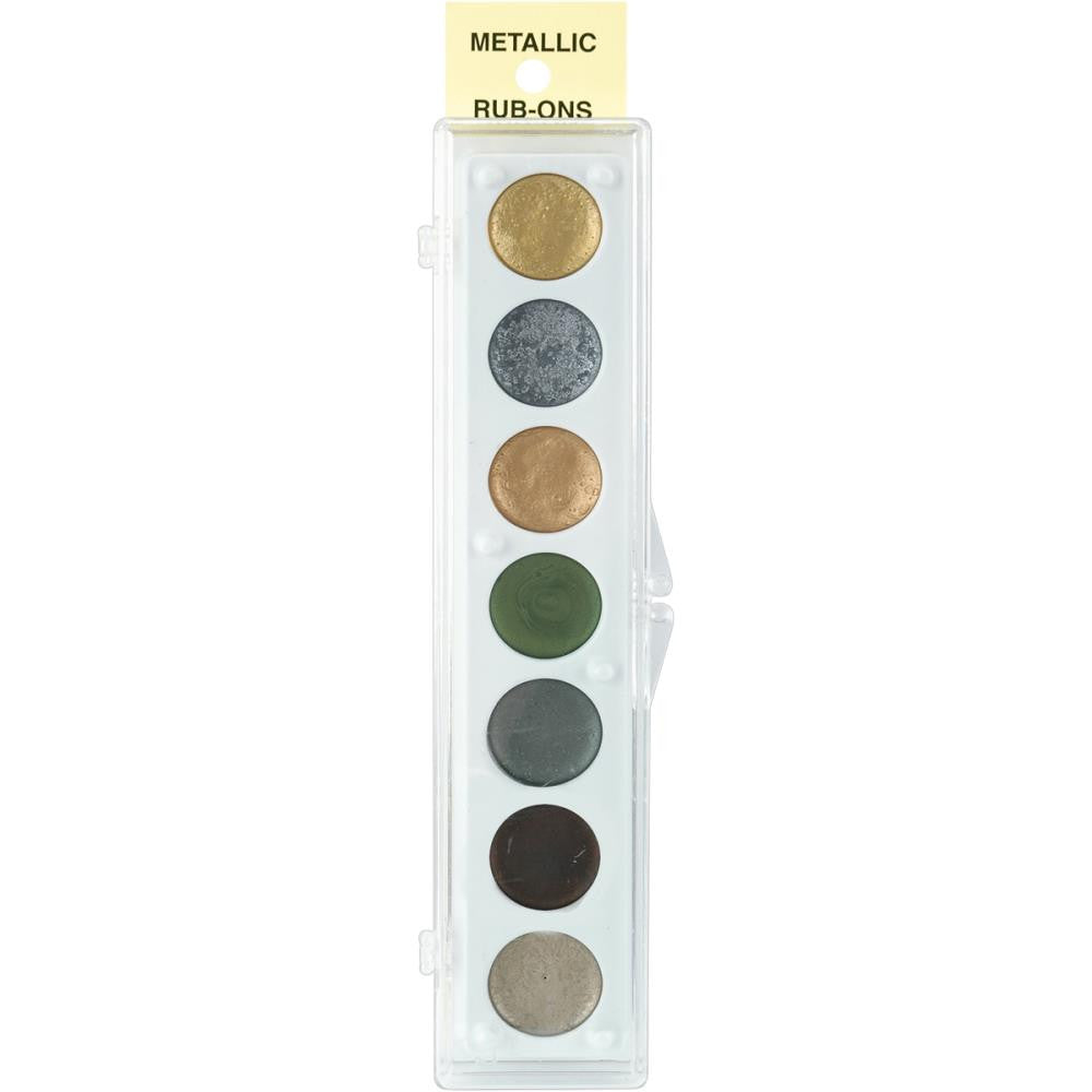 Metallic Rub-On Paint Palette - 7 colors - Set #2
