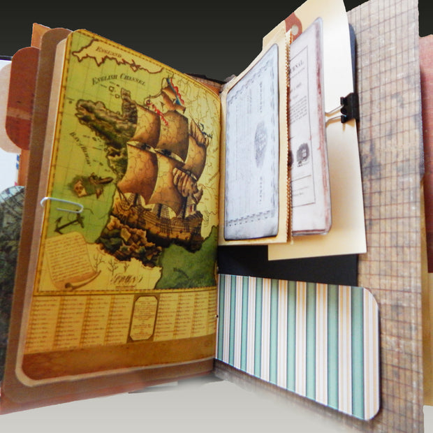 Hand-Stitched Nautical Journal - Nautical Theme